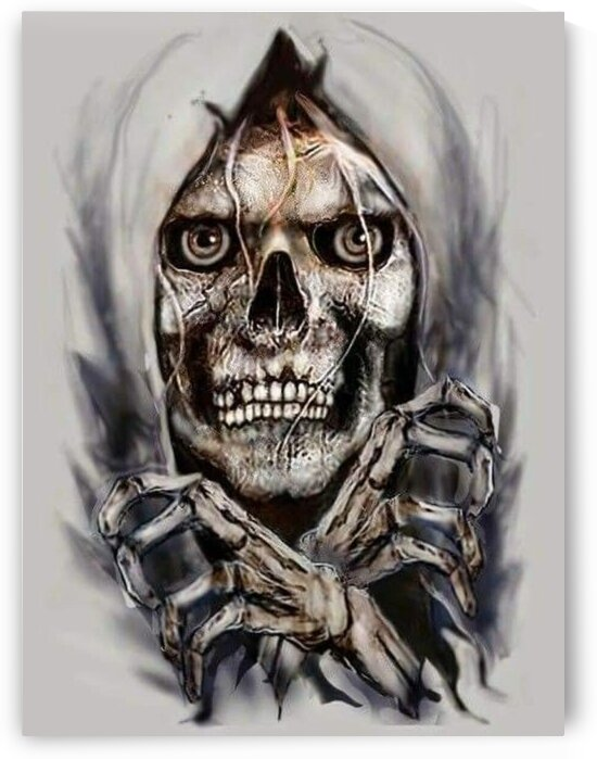 Freehand Skull Drawing by RAMPAGE