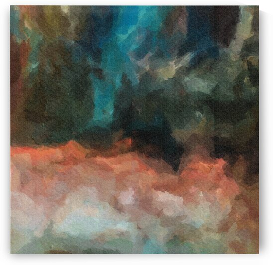Abstraction on canvas in the form of multi-colored clouds.  by Ievgeniia Bidiuk