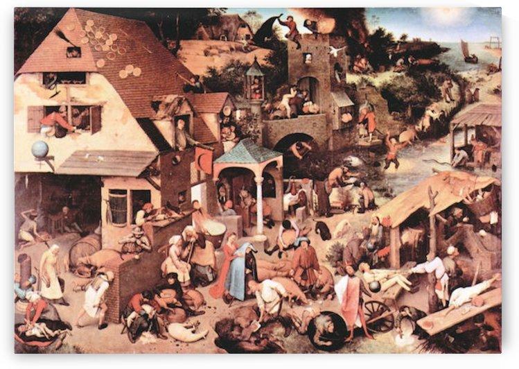 The Dutch proverbs by Pieter Bruegel by Pieter Bruegel