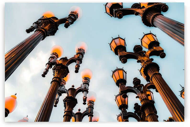 Urban Lights pole with blue sky at LACMA Los Angeles California USA with blue sky by TimmyLA