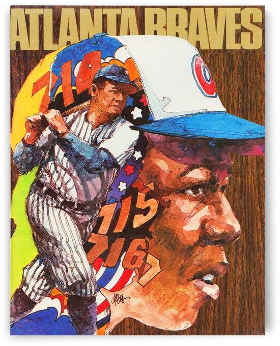 1974 Atlanta Braves Hank Aaron Cover Artist Wayland Moore by Row One Brand