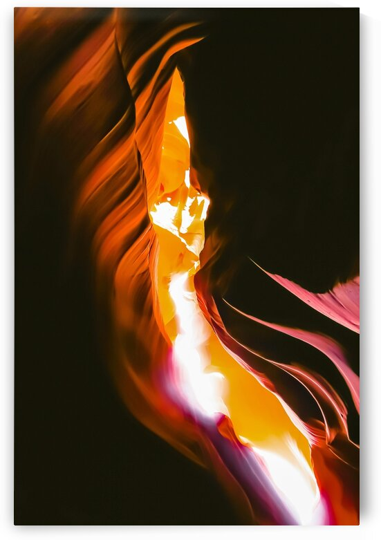 light in the sandstone cave abstract at Antelope Canyon Arizona USA by TimmyLA