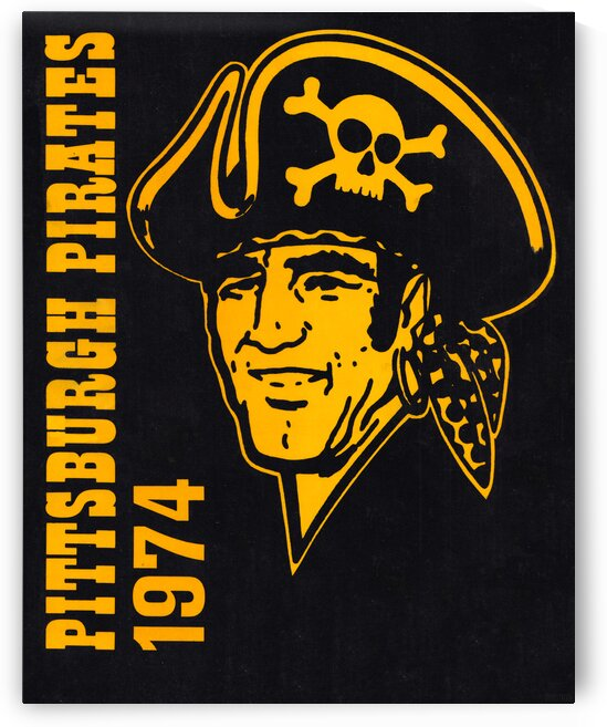 1974 pittsburgh pirates art by Row One Brand