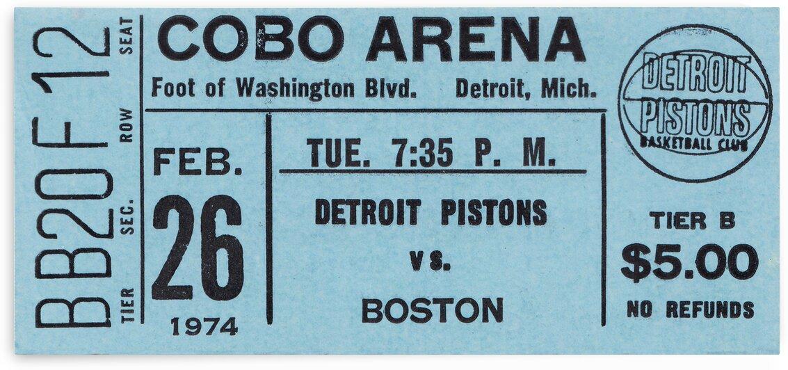 1974 Detroit Pistons vs. Boston Celtics by Row One Brand