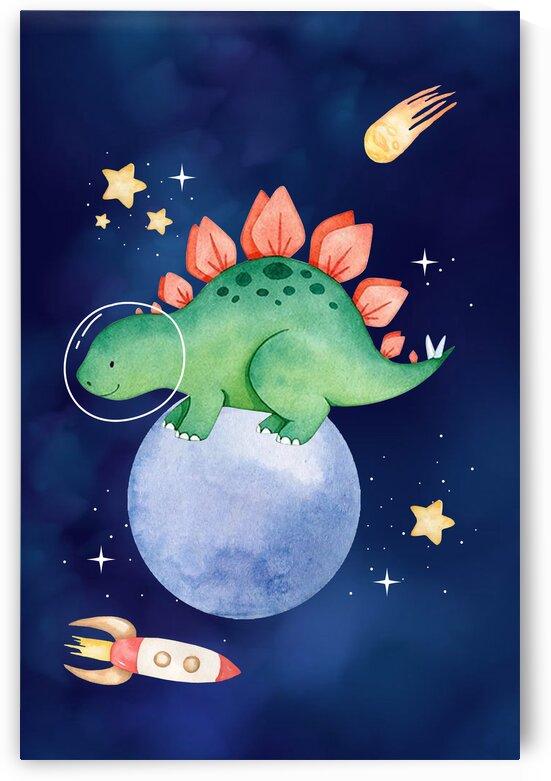 Space dinosaurs kid baby playroom nursery daughter son niece by Samantha