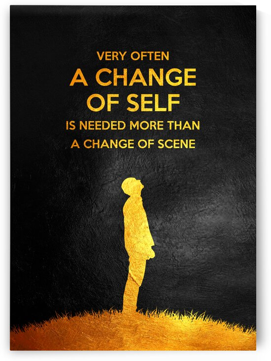 Change of Self Motivational Wall Art by ABConcepts