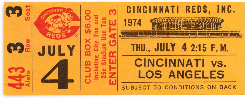 1974 Cincinnati Reds Ticket Stub Poster by Row One Brand