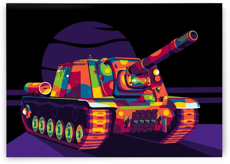 ISU 152 Tank Destroyer by wpaprint