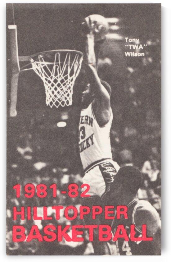 1981 TWA Wilson Western Kentucky Basketball Poster by Row One Brand