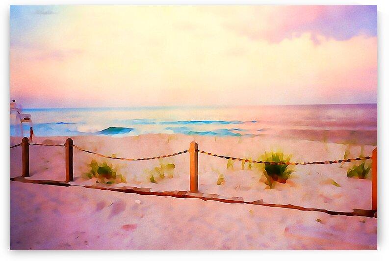 Kure Beach Summer Night Lavender Sky by Pierce Anderson