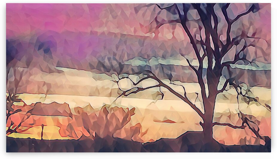 winter sky lavender by Pierce Anderson