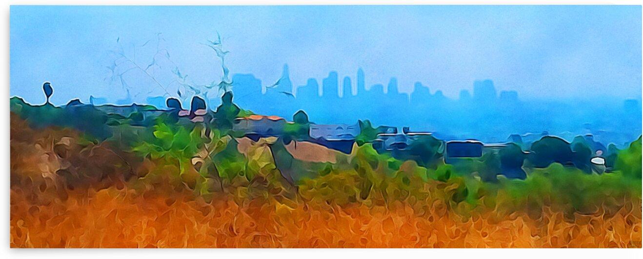 los angeles skyline art by Pierce Anderson