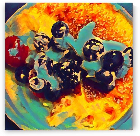 creme brulee food art 2 by Pierce Anderson