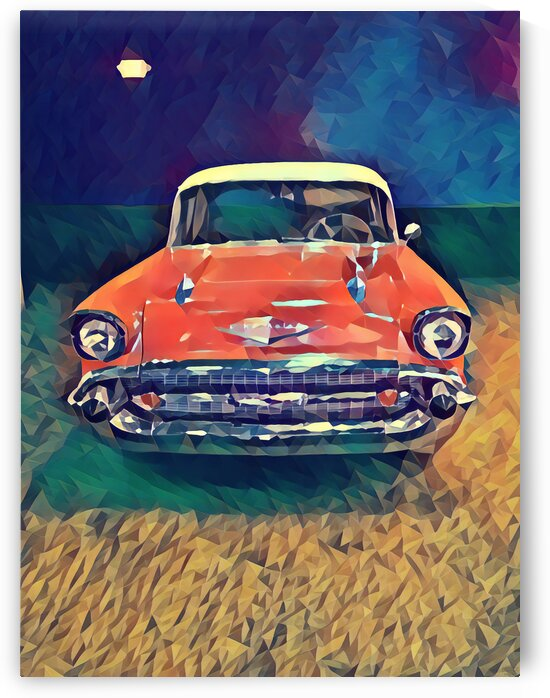 57 chevy car art by Pierce Anderson