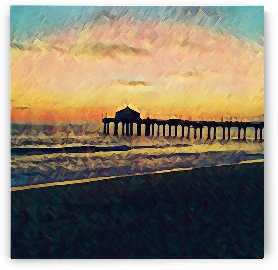 manhattan beach sunset by Pierce Anderson