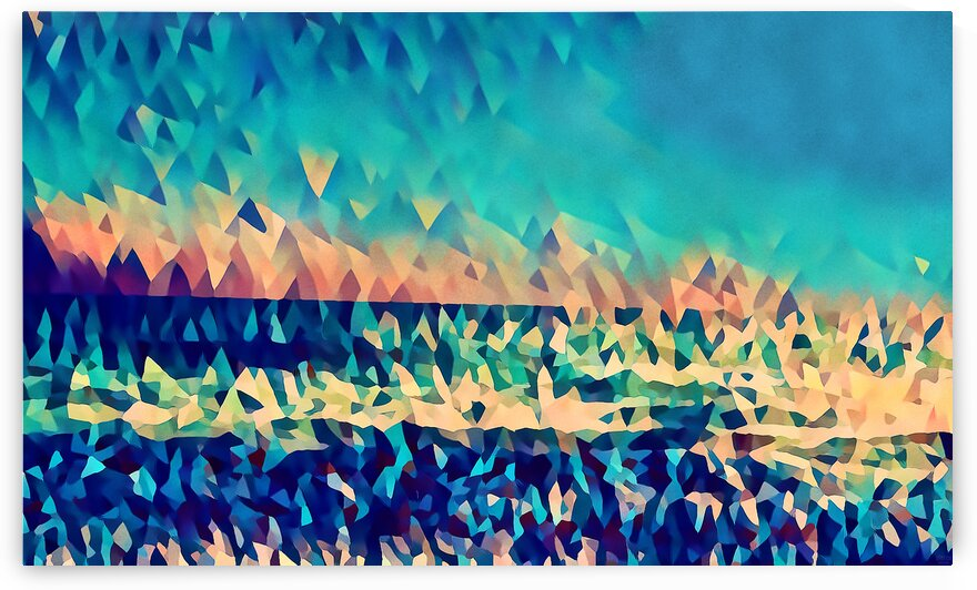 abstract blue sky ocean by Pierce Anderson