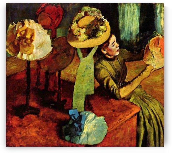 The fashion shop by Degas by Degas
