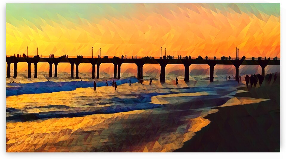 manhattan beach sunset art by Pierce Anderson
