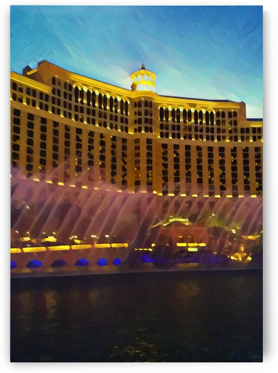 caesars palace fountains by Pierce Anderson