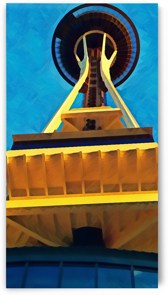 seattle space needle abstract by Pierce Anderson