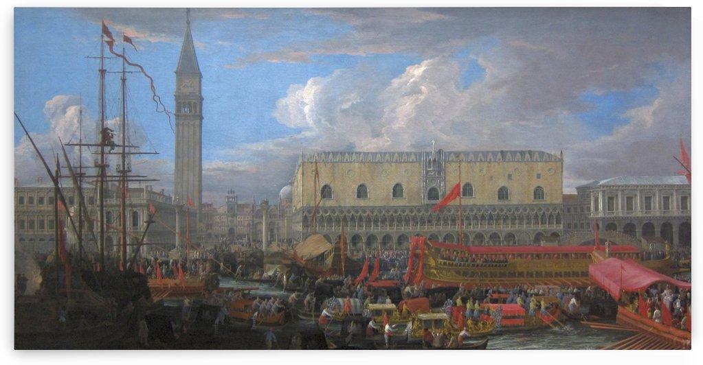 The Bucintoro Departing from the Bacino di San Marco by Luca Carlevarijs
