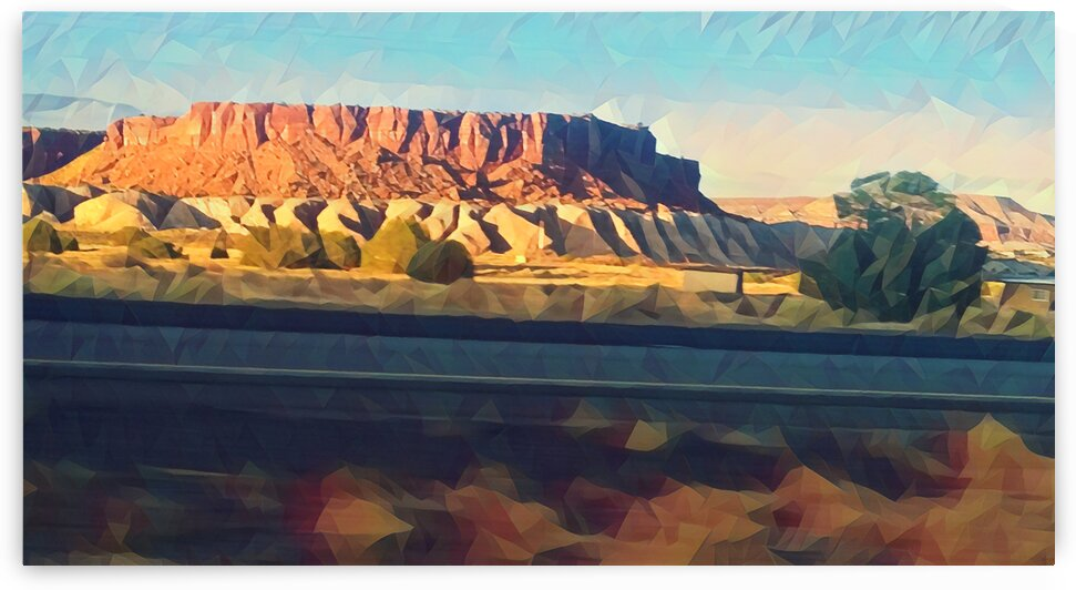 new mexico highway by Pierce Anderson