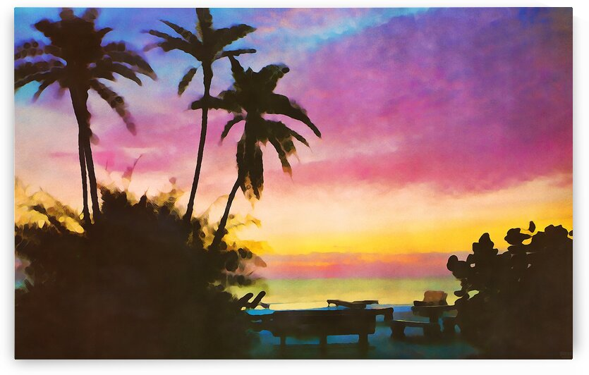 gulf of mexico sunset art by Pierce Anderson