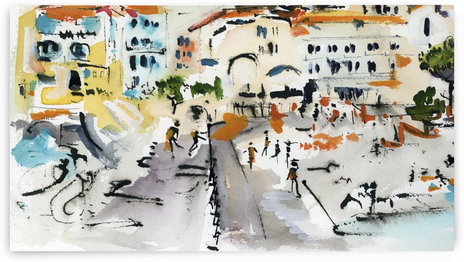 Amalfi Fun at the Beach Italy by Ginette Fine Art