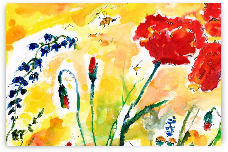 Red Poppies Provence by Ginette Fine Art