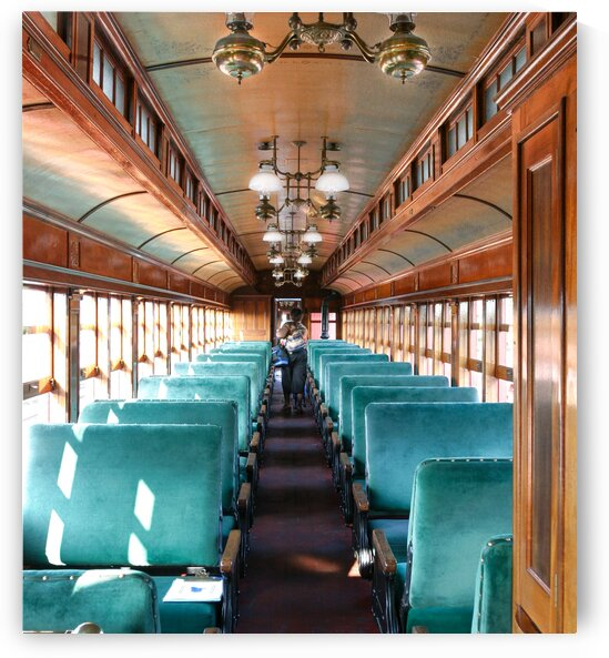 Interior of Antique Railcar. by Eric Franks Photography