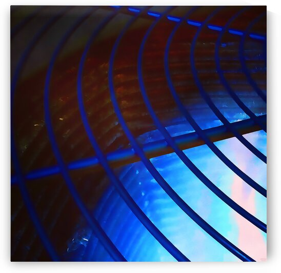 abstract blue curved lines by Pierce Anderson