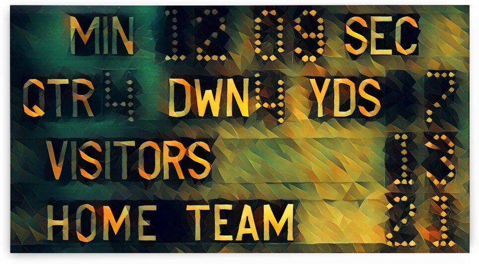 Football Scoreboard Art by Pierce Anderson