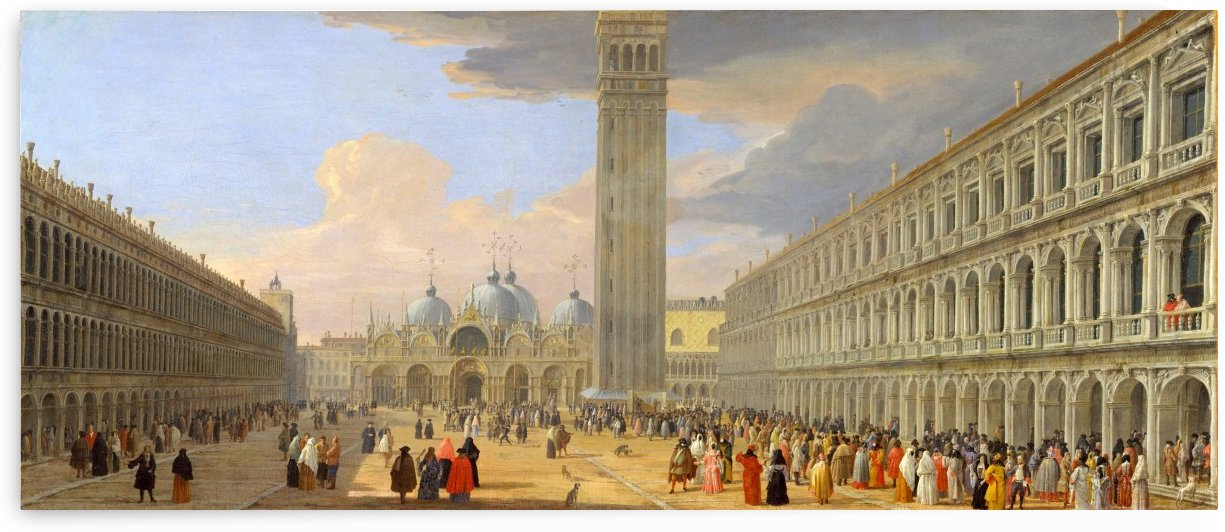 Piazza San Marco, Venice by Luca Carlevarijs