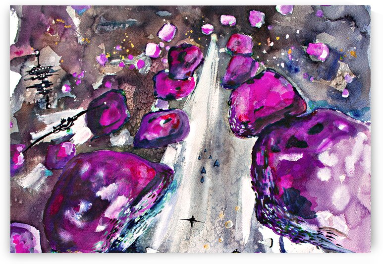 Sea Of Amethysts 2 by Ginette Fine Art