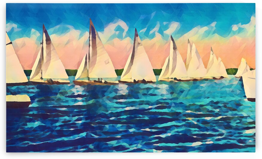 sail boats art by Pierce Anderson
