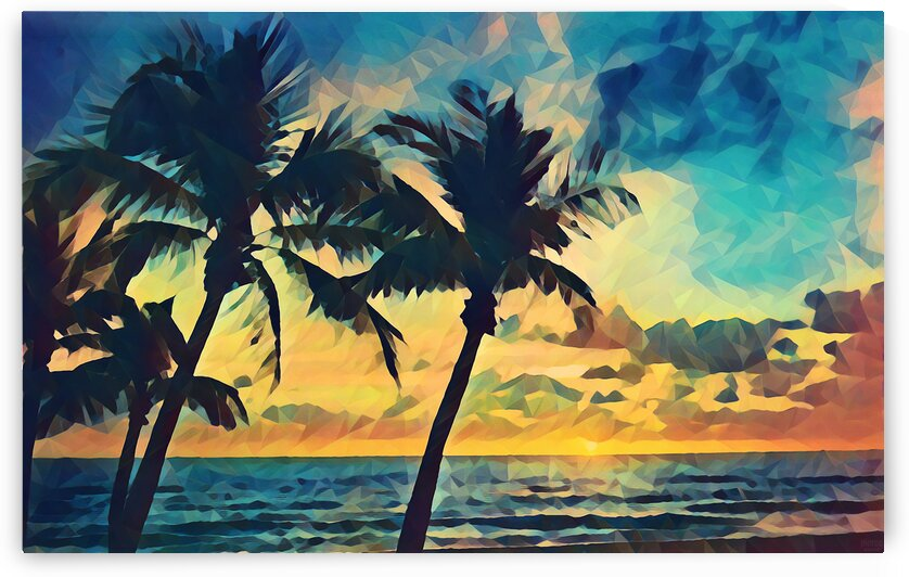florida palm trees art by Pierce Anderson