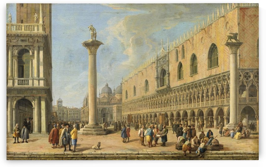 View of Venice with the Piazzetta Di San Marco and Palazzo Ducale by Luca Carlevarijs