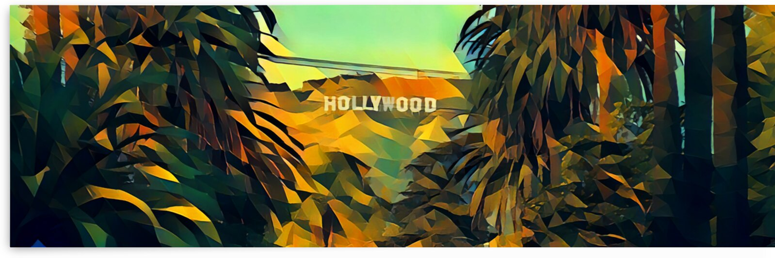 hollywood sign art by Pierce Anderson