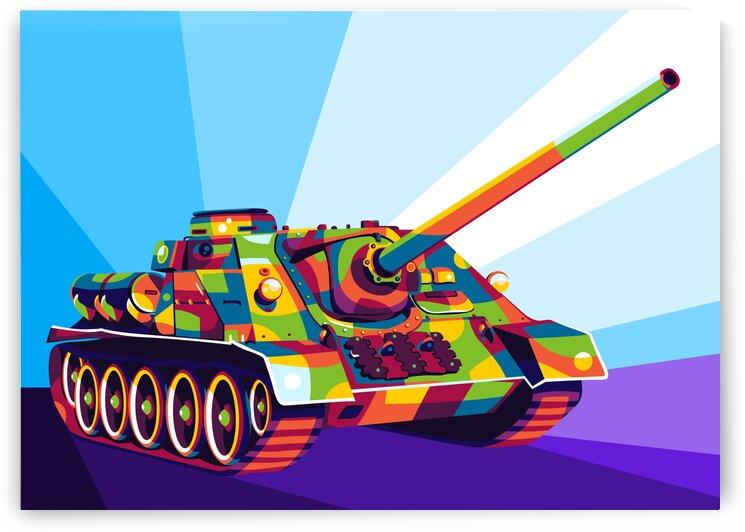 SU-100 Tank Destroyer by wpaprint