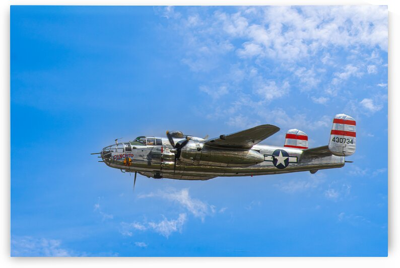Panchito B25 In Flight by Eric Franks Photography