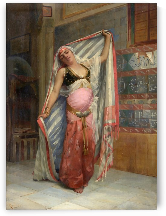 Exotic dancer beguiles bidders at Tennants by Theodore Ralli