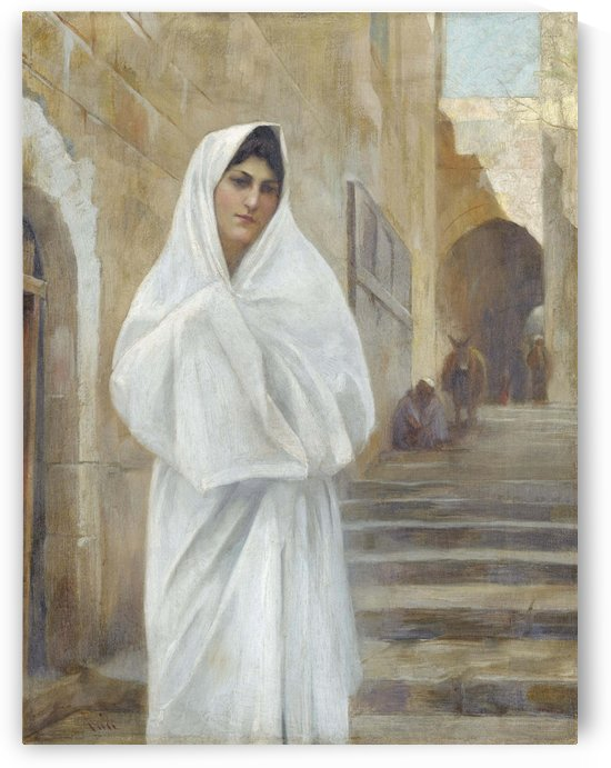 The woman in white by Theodore Ralli
