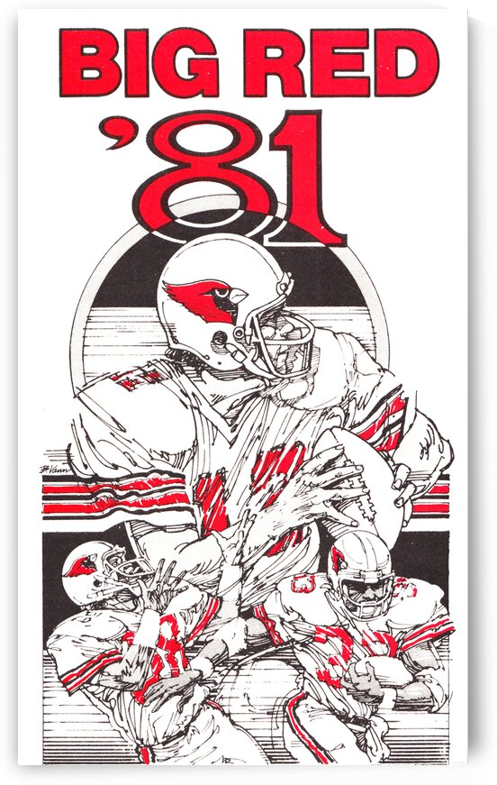 1981 St. Louis Cardinals Football Art Poster by Row One Brand