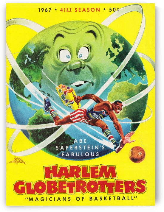 1967 Harlem Globetrotters Cover Art by Karl Hubenthal by Row One Brand