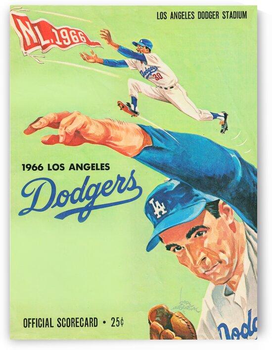 1967 Dodgers Scorecard Art Karl Hubenthal by Row One Brand