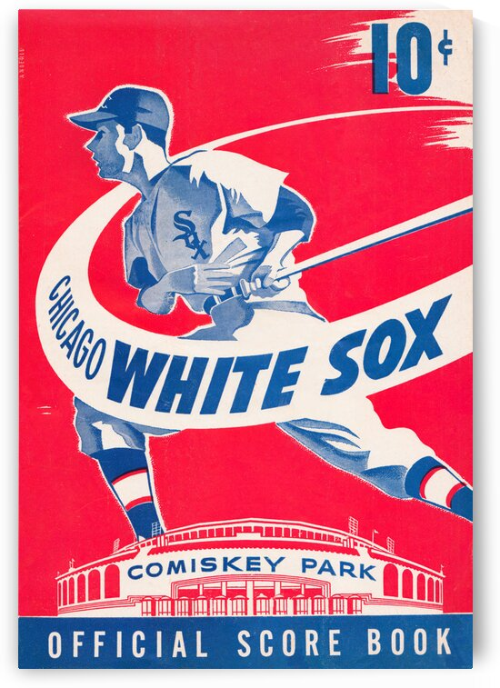 1950 Chicago White Sox Scorebook  Wall Art by Row One Brand