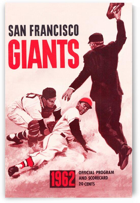 1962 San Francisco Giants Scorecard Art by Row One Brand