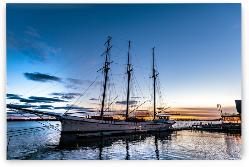 Sunset Schooner by Glen Grant