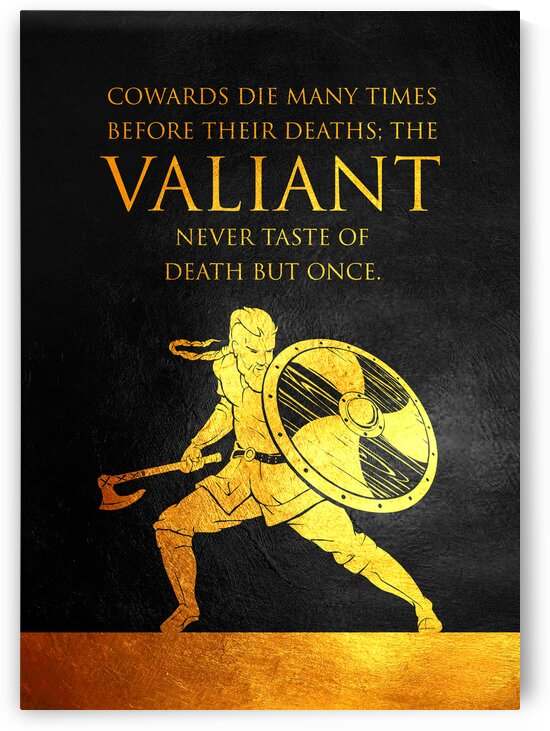 Valiant Viking Motivational Wall Art by ABConcepts