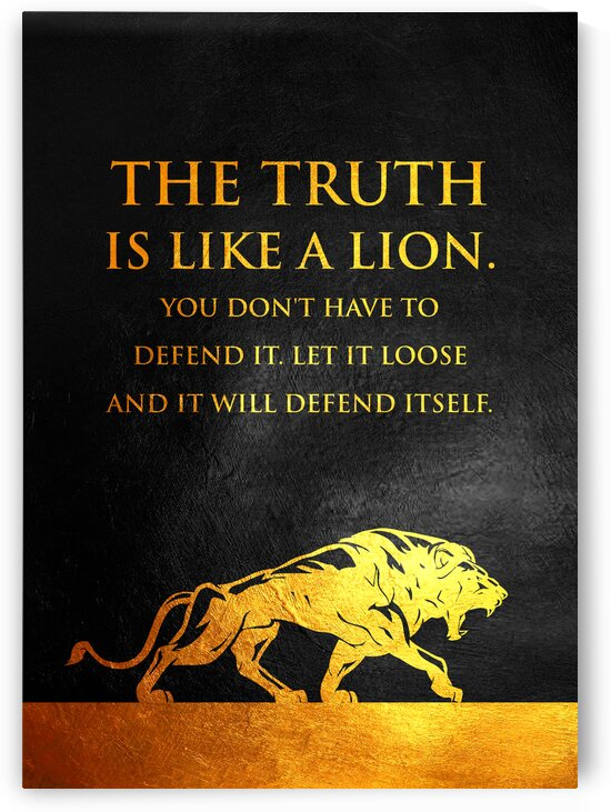 The Truth Is Like a Lion Motivational Wall Art by ABConcepts